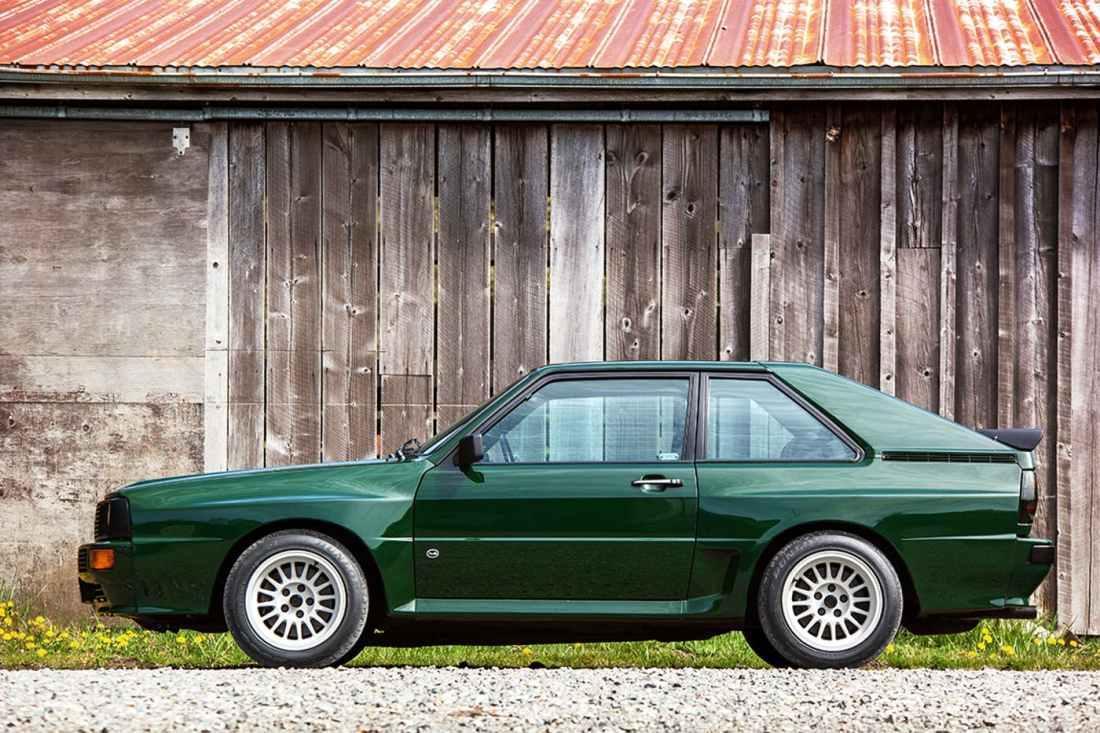 Audi Sport Quattro verde Greenwood uma cor menos frequente.