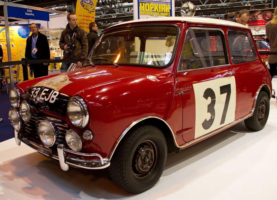 Um dos Cooper S vencedores do Rali de Monte Carlo.