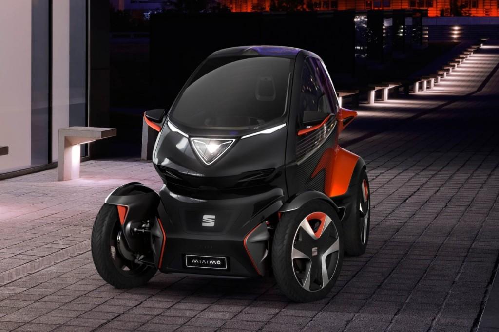 O Seat Mínimo é a proposta da marca espanhola para o futuro da mobilidade nas cidades.